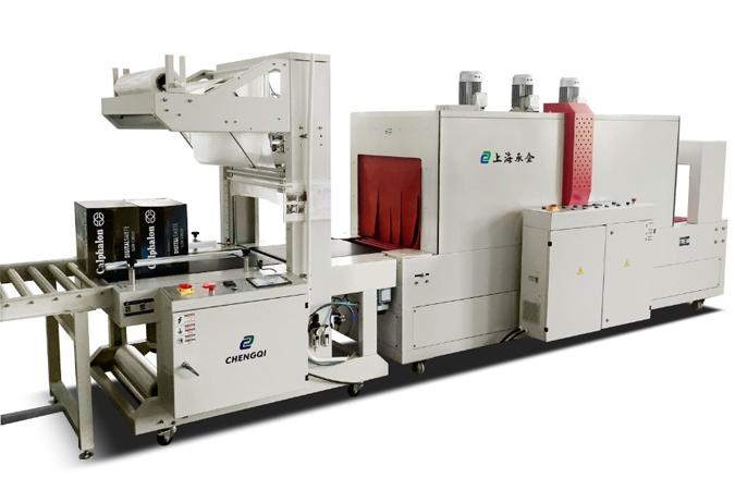 TFZ8040+BS8060PE直进料全自动袖口式封切收缩包装机